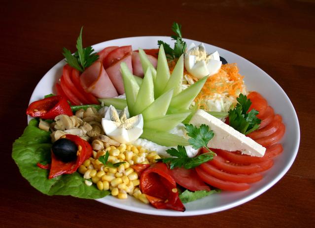 Як прикраси салат фото